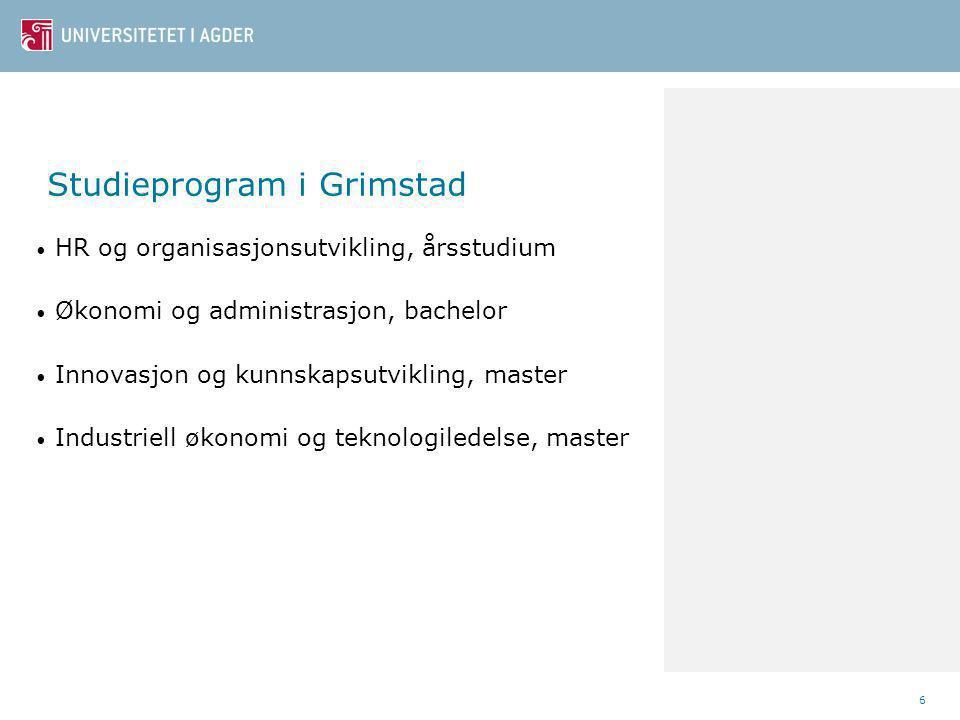 Studieprogram i Grimstad