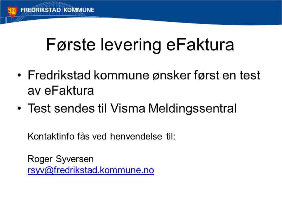 Første levering eFaktura