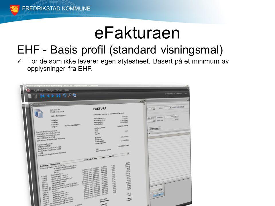 eFakturaen EHF - Basis profil (standard visningsmal)
