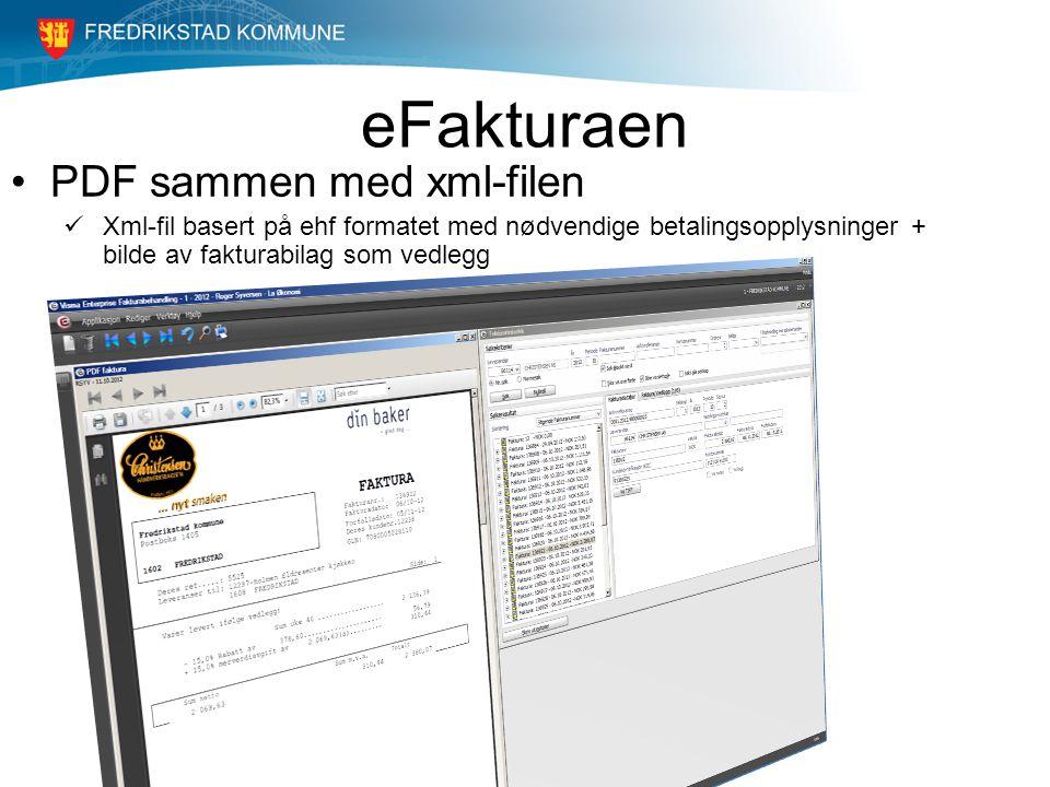 eFakturaen PDF sammen med xml-filen