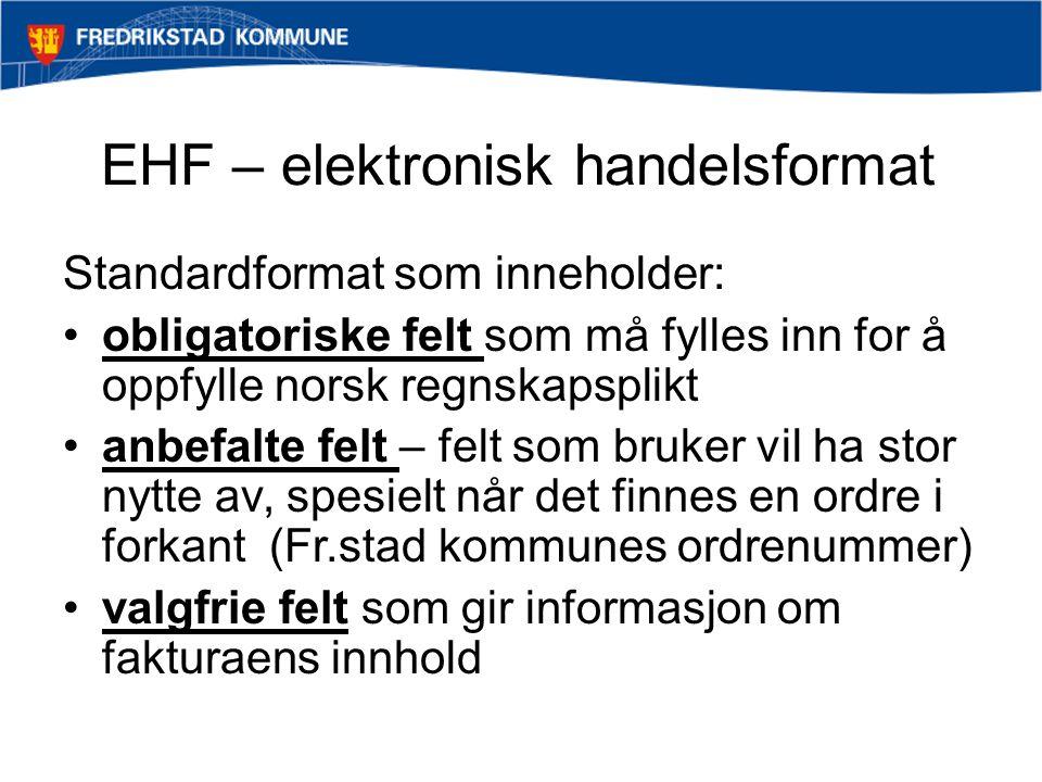 EHF – elektronisk handelsformat
