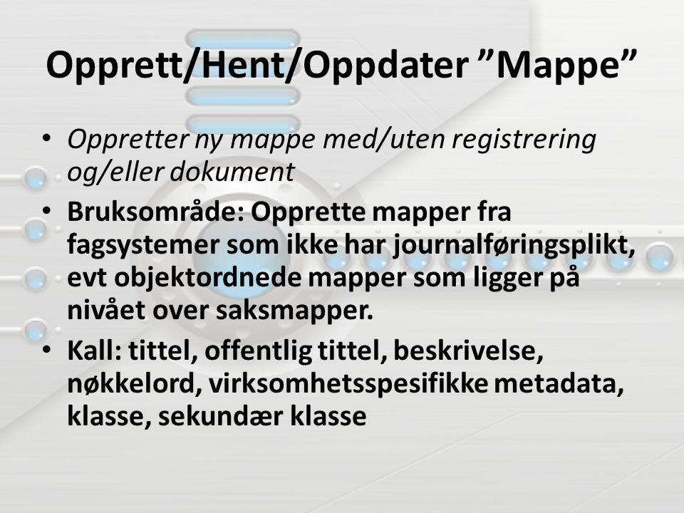 Opprett/Hent/Oppdater Mappe