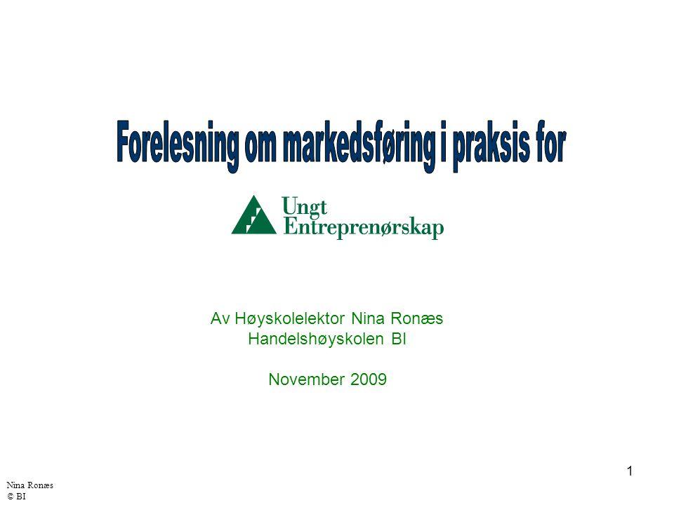 Forelesning om markedsføring i praksis for