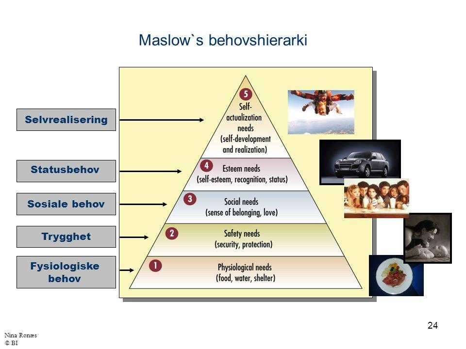 Maslow`s behovshierarki