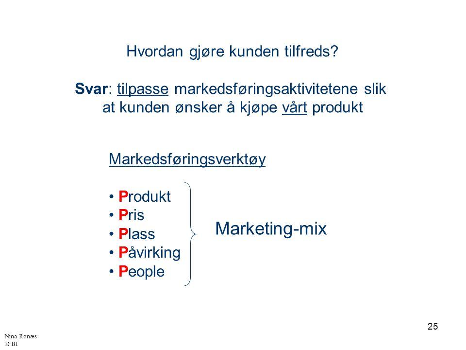 Marketing-mix Hvordan gjøre kunden tilfreds