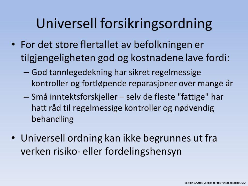 Universell forsikringsordning