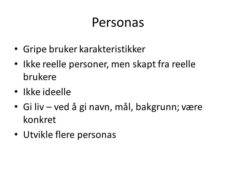 Personas Gripe bruker karakteristikker