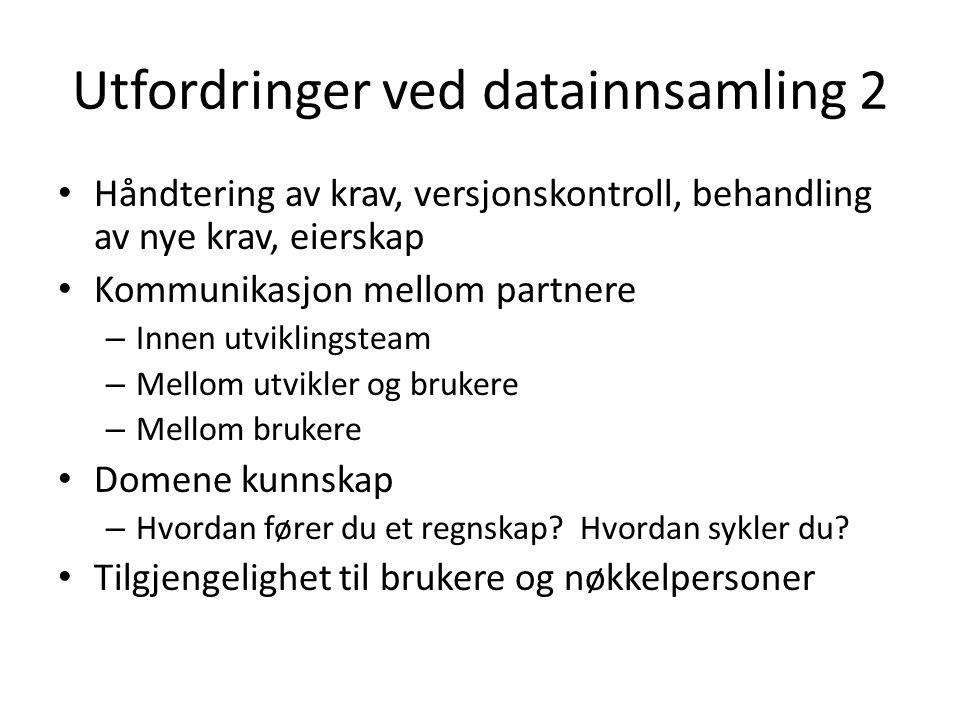 Utfordringer ved datainnsamling 2