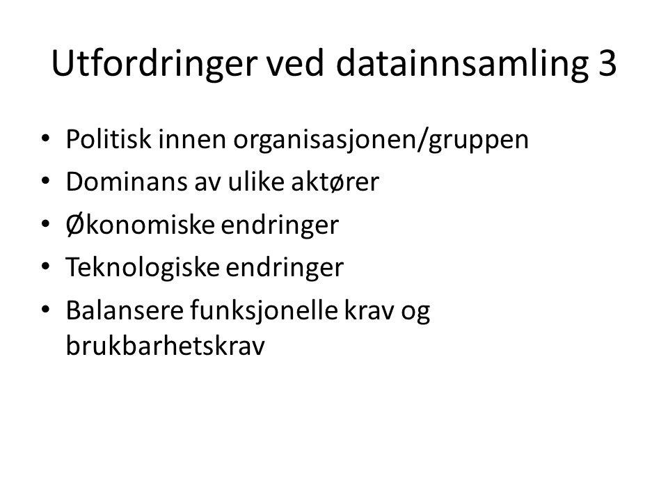 Utfordringer ved datainnsamling 3