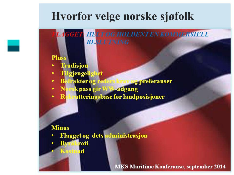 Hvorfor velge norske sjøfolk