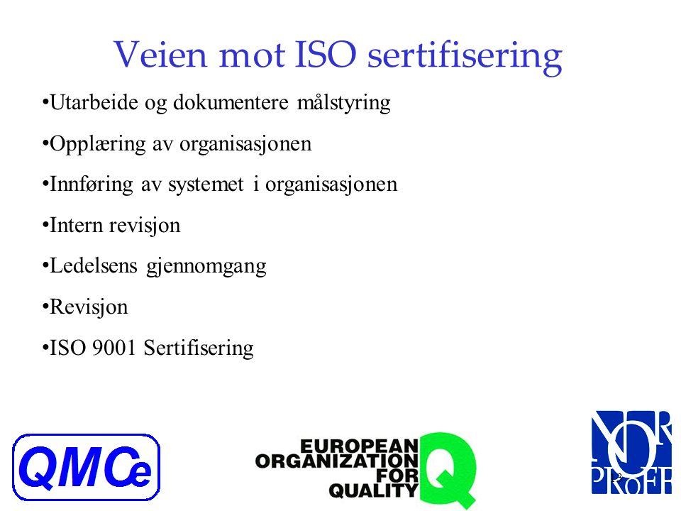 Veien mot ISO sertifisering