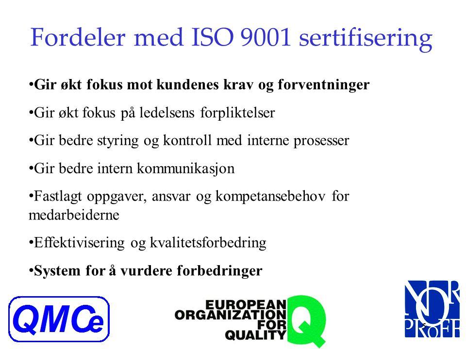 Fordeler med ISO 9001 sertifisering