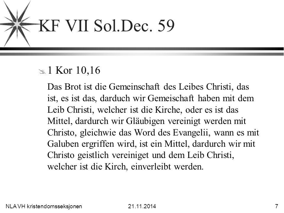 KF VII Sol.Dec. 59 1 Kor 10,16.