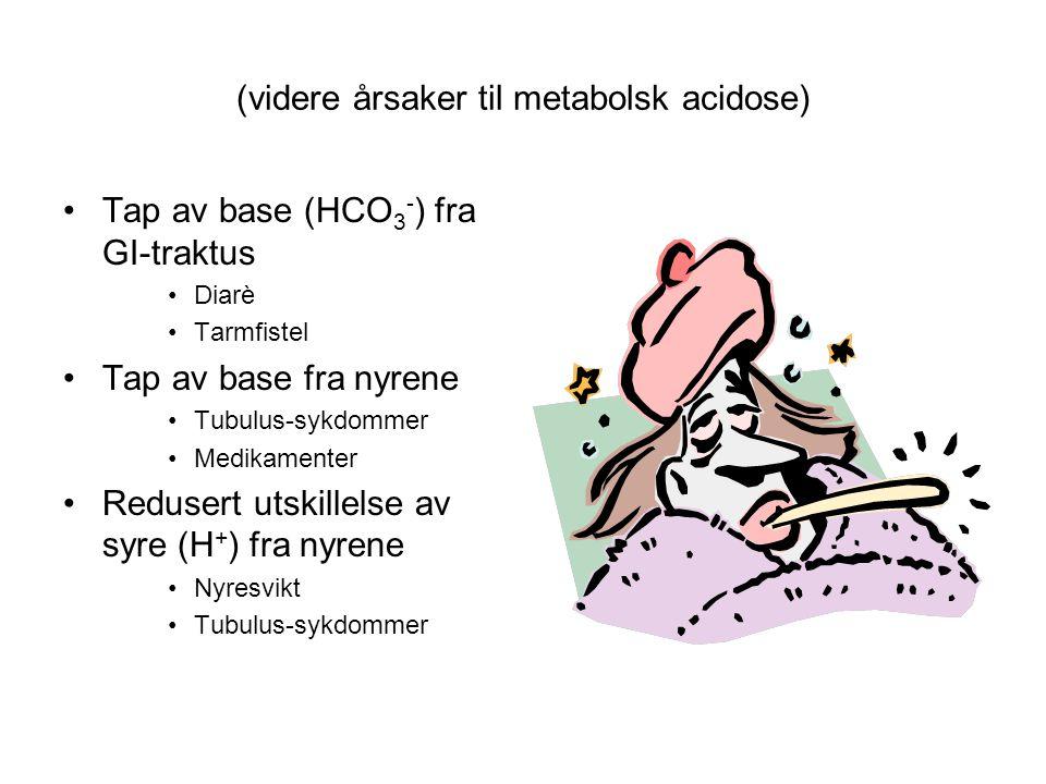 (videre årsaker til metabolsk acidose)