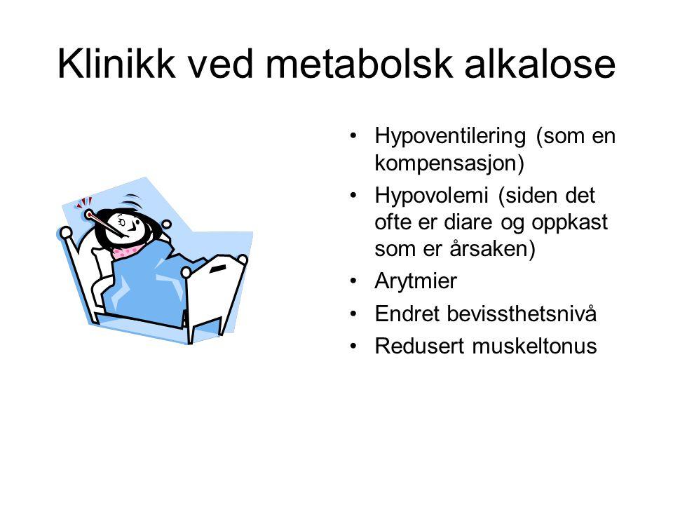 Klinikk ved metabolsk alkalose