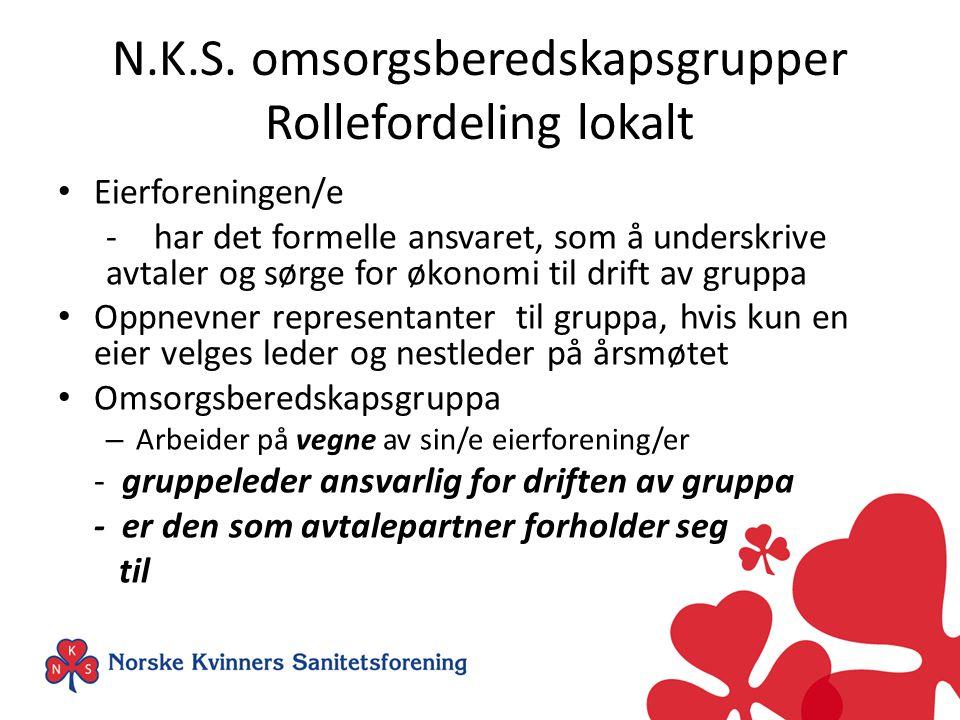 N.K.S. omsorgsberedskapsgrupper Rollefordeling lokalt