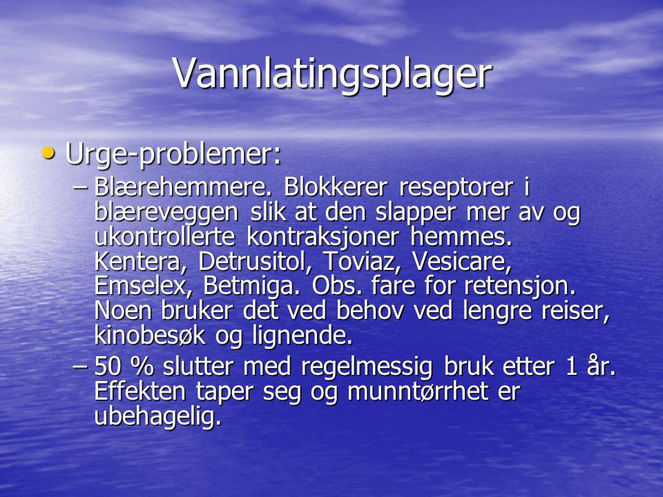 Vannlatingsplager Urge-problemer: