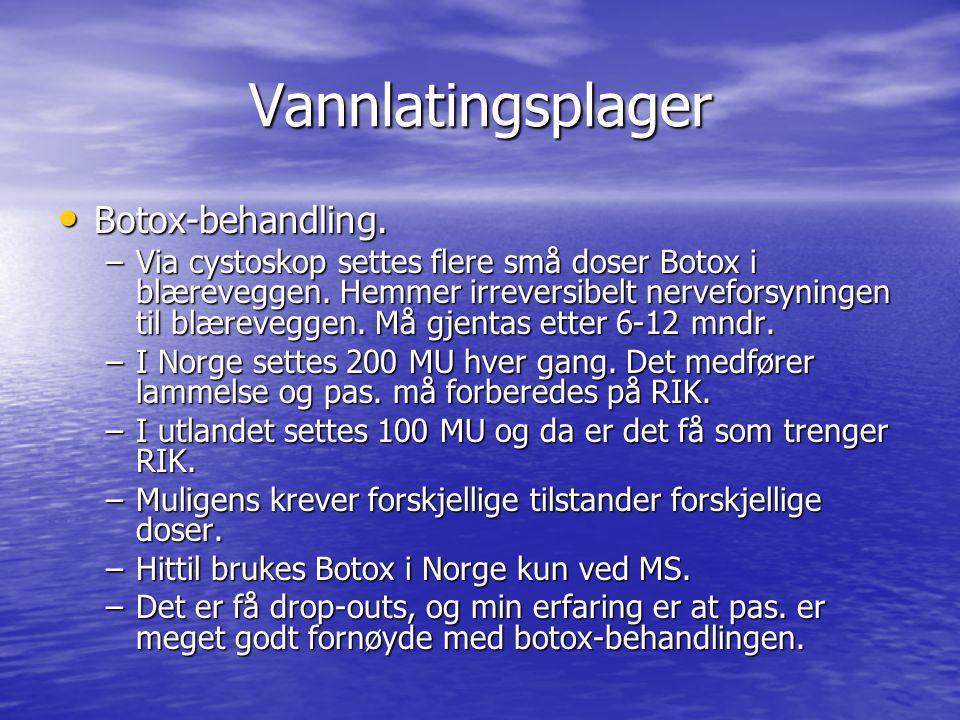 Vannlatingsplager Botox-behandling.