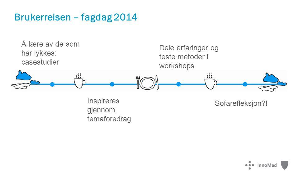 Brukerreisen – fagdag 2014 Å lære av de som har lykkes: casestudier