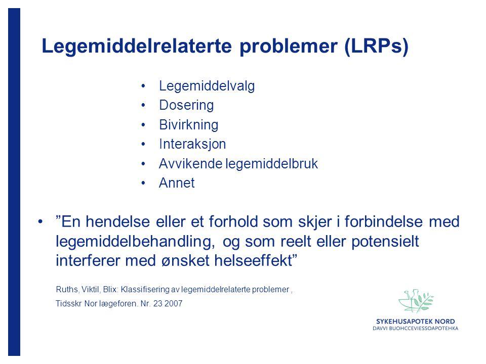 Legemiddelrelaterte problemer (LRPs)