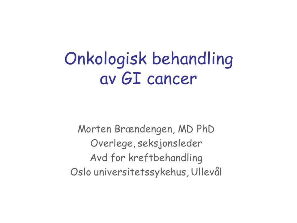 Onkologisk behandling av GI cancer