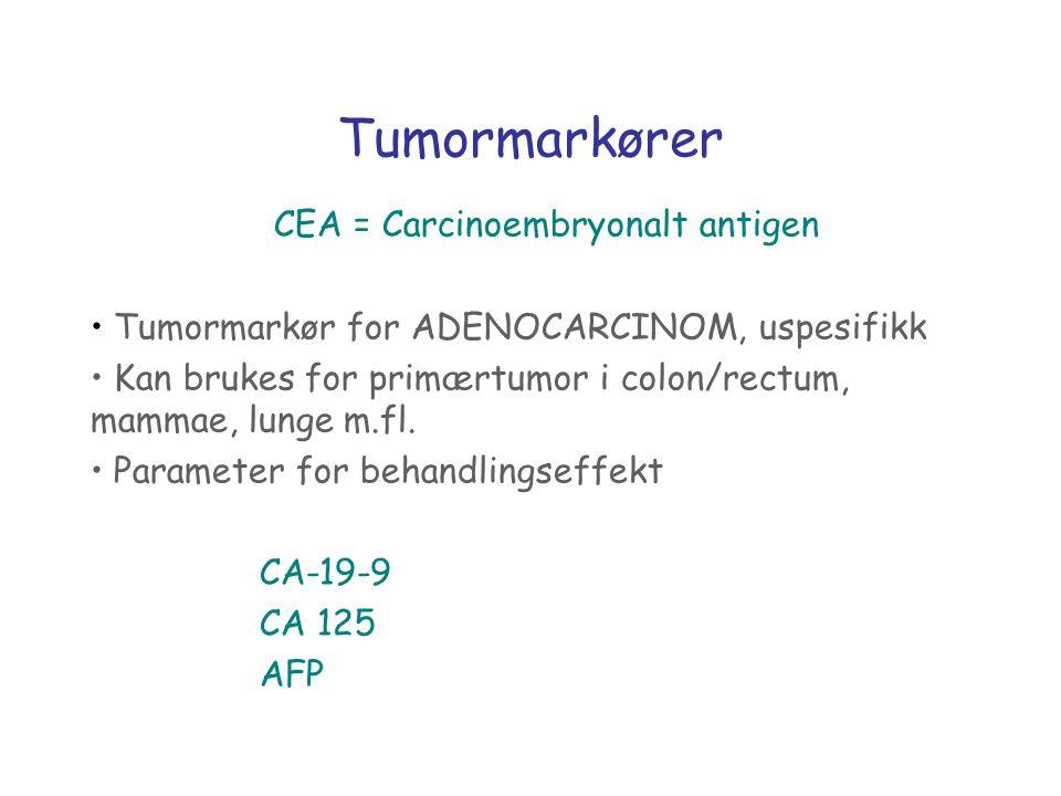 CEA = Carcinoembryonalt antigen