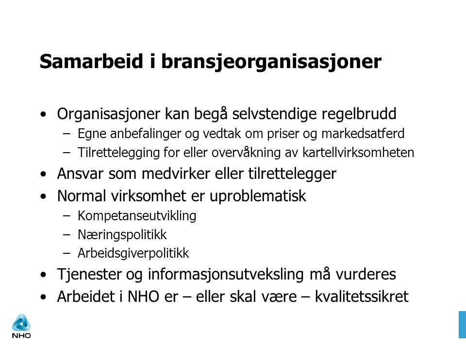 Samarbeid i bransjeorganisasjoner
