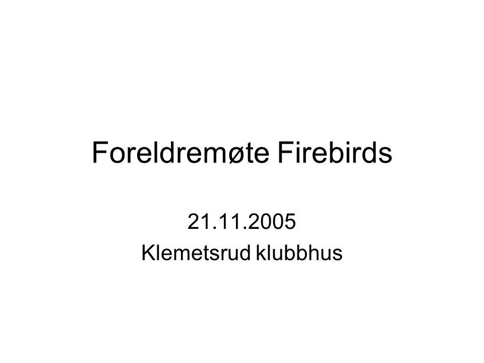 Foreldremøte Firebirds