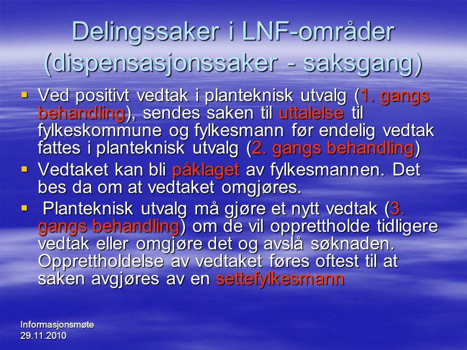 Delingssaker i LNF-områder (dispensasjonssaker - saksgang)