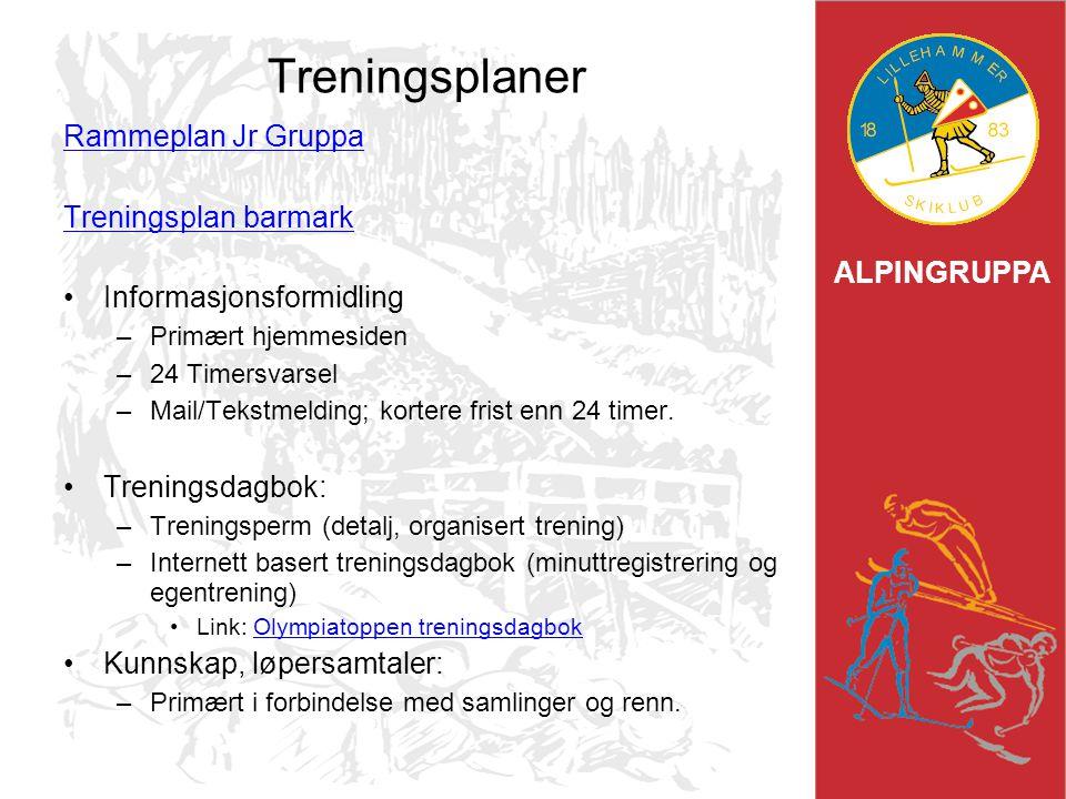 Treningsplaner Rammeplan Jr Gruppa Treningsplan barmark