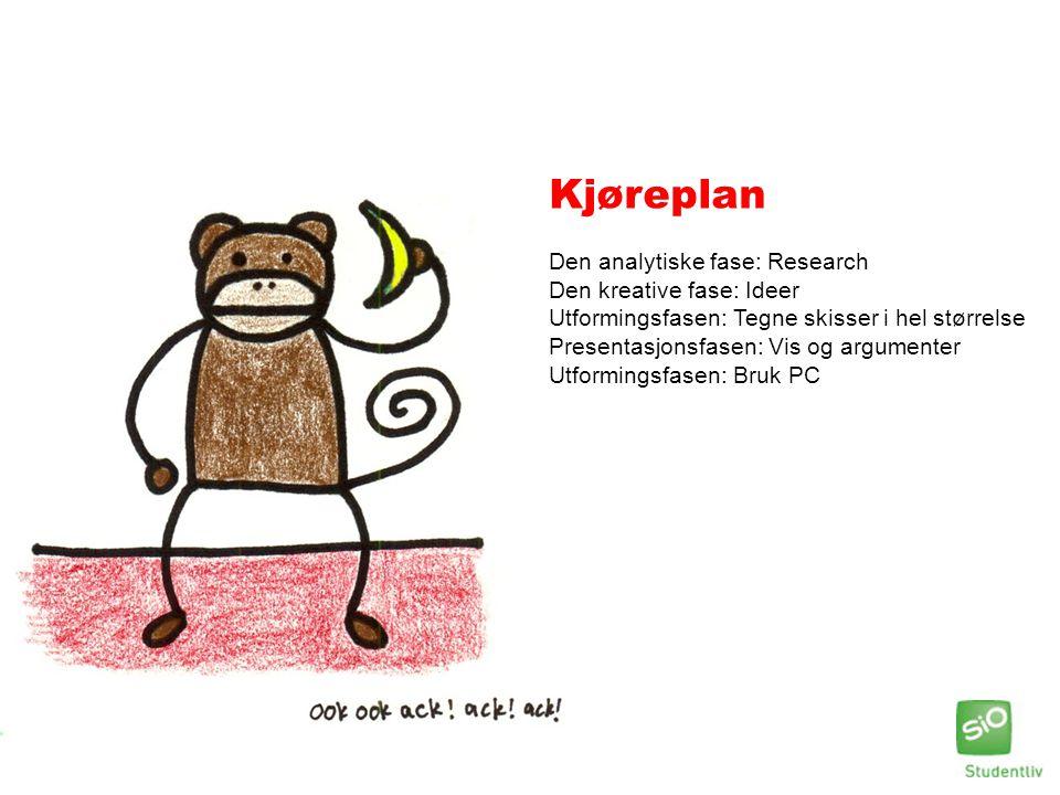Kjøreplan Den analytiske fase: Research Den kreative fase: Ideer