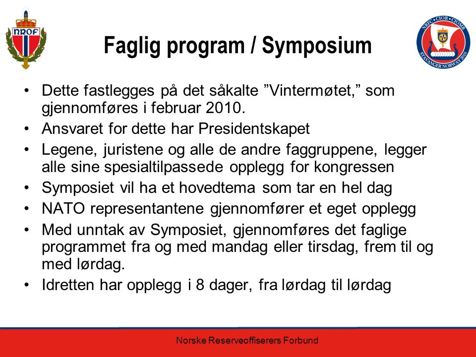 Faglig program / Symposium