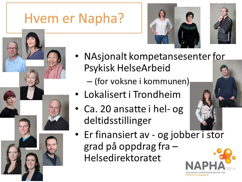 Hvem er Napha NAsjonalt kompetansesenter for Psykisk HelseArbeid