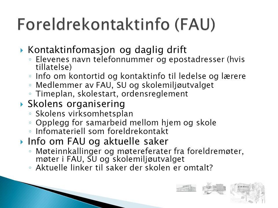 Foreldrekontaktinfo (FAU)