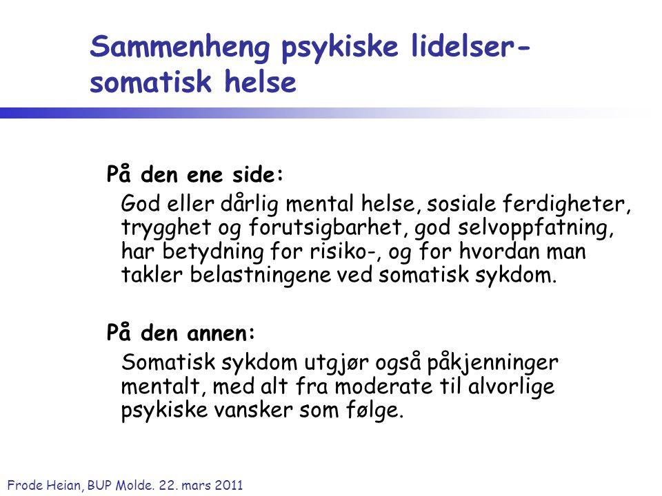 Sammenheng psykiske lidelser- somatisk helse
