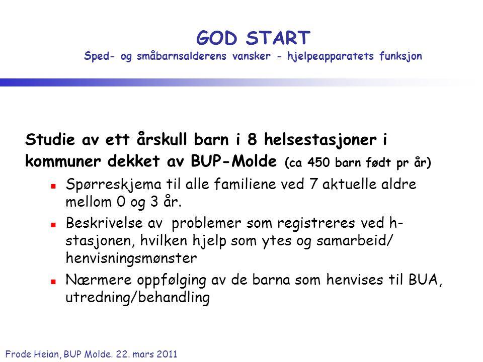 GOD START Sped- og småbarnsalderens vansker - hjelpeapparatets funksjon