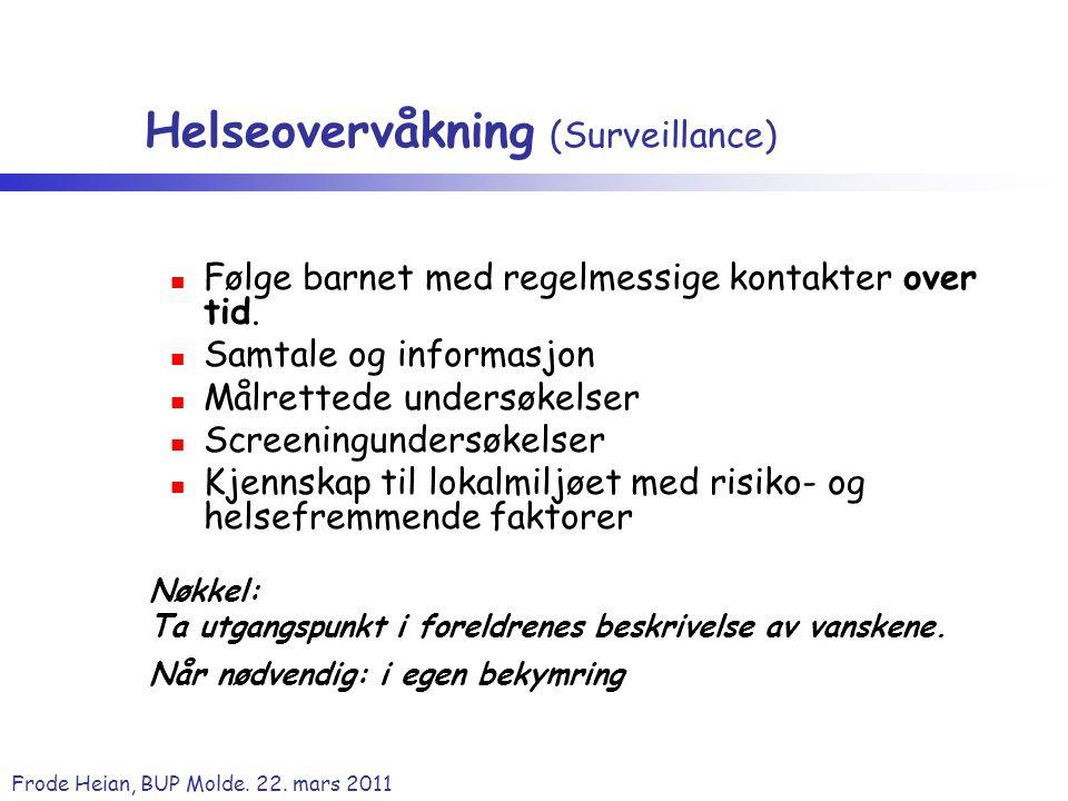 Helseovervåkning (Surveillance)