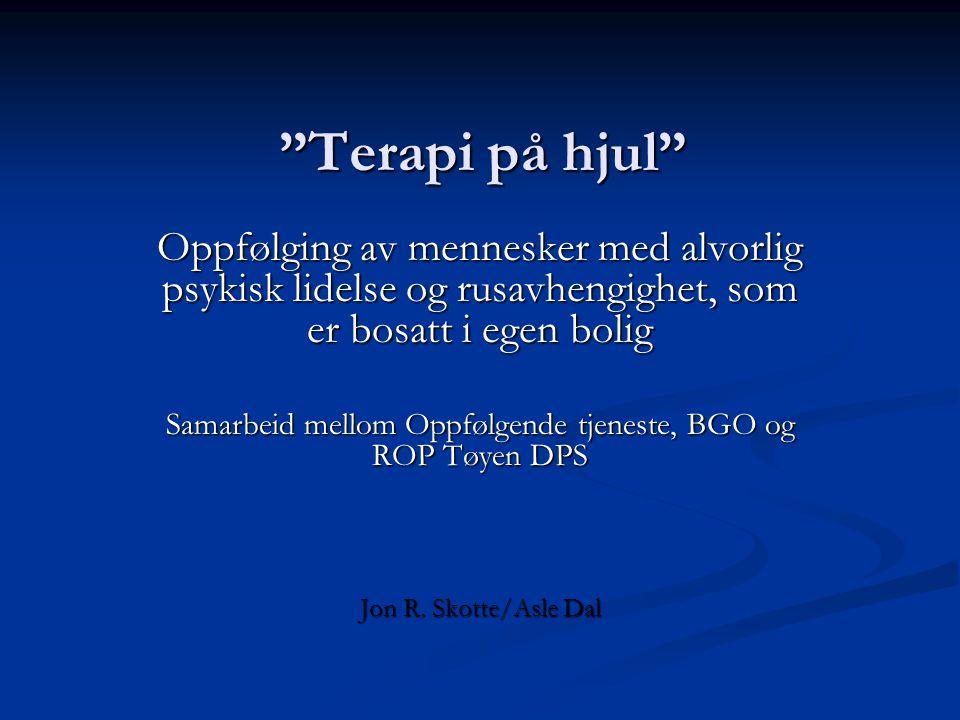 Samarbeid mellom Oppfølgende tjeneste, BGO og ROP Tøyen DPS