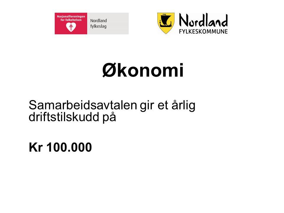 Samarbeidsavtalen gir et årlig driftstilskudd på Kr 100.000