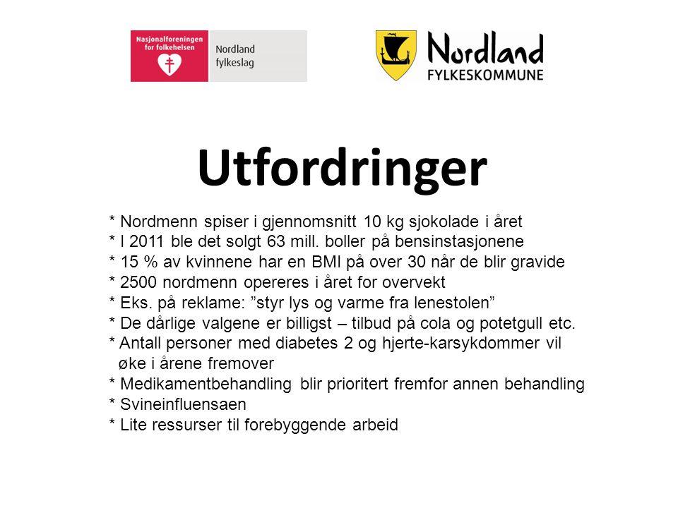 Utfordringer * Nordmenn spiser i gjennomsnitt 10 kg sjokolade i året