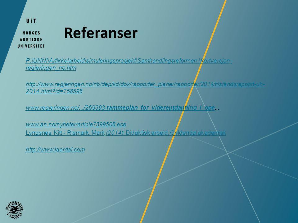 Referanser P:\UNNI\Artikkelarbeid\simuleringsprosjekt\Samhandlingsreformen i kortversjon - regjeringen_no.htm.