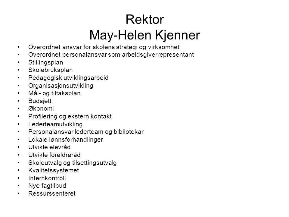 Rektor May-Helen Kjenner