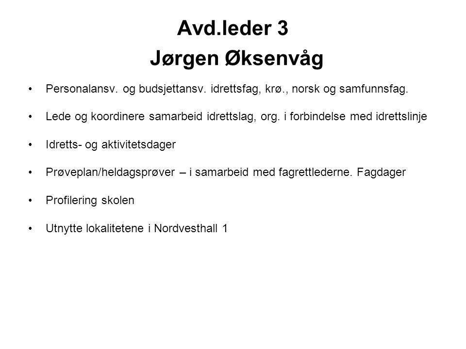 Avd.leder 3 Jørgen Øksenvåg