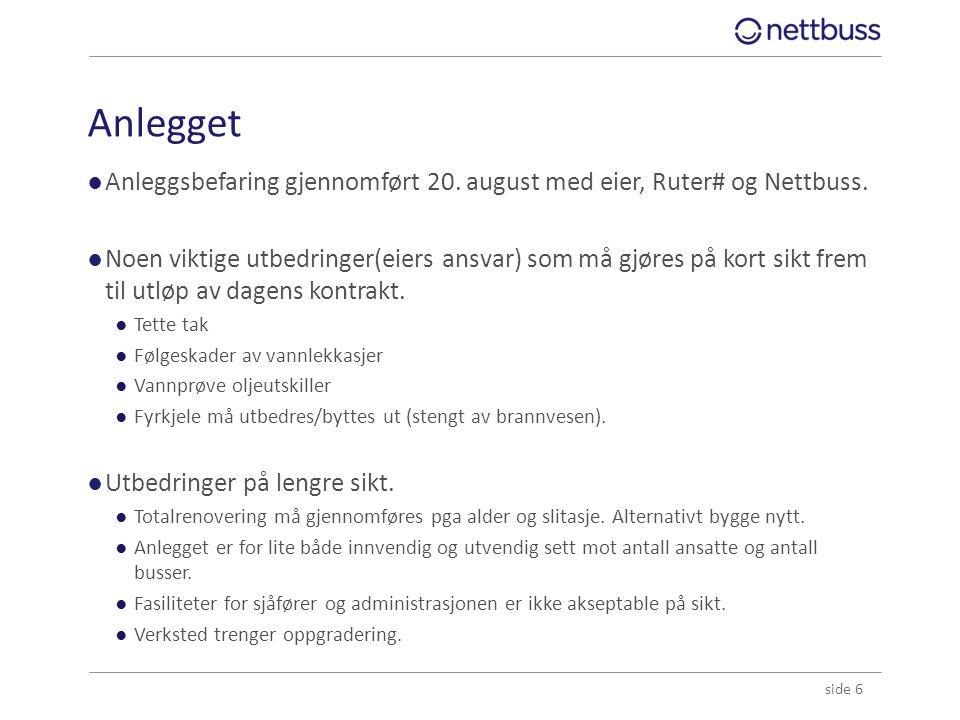 Anlegget Anleggsbefaring gjennomført 20. august med eier, Ruter# og Nettbuss.