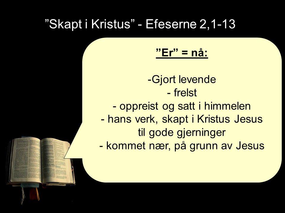 Skapt i Kristus - Efeserne 2,1-13