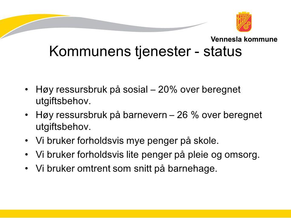 Kommunens tjenester - status