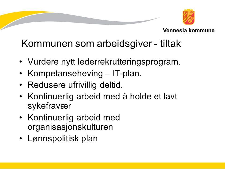 Kommunen som arbeidsgiver - tiltak