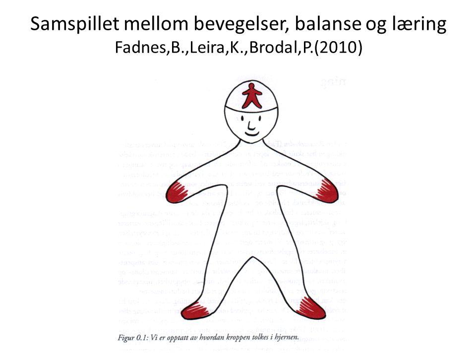 Samspillet mellom bevegelser, balanse og læring Fadnes,B. ,Leira,K