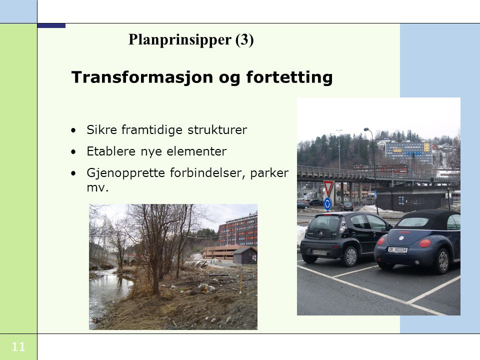 Transformasjon og fortetting