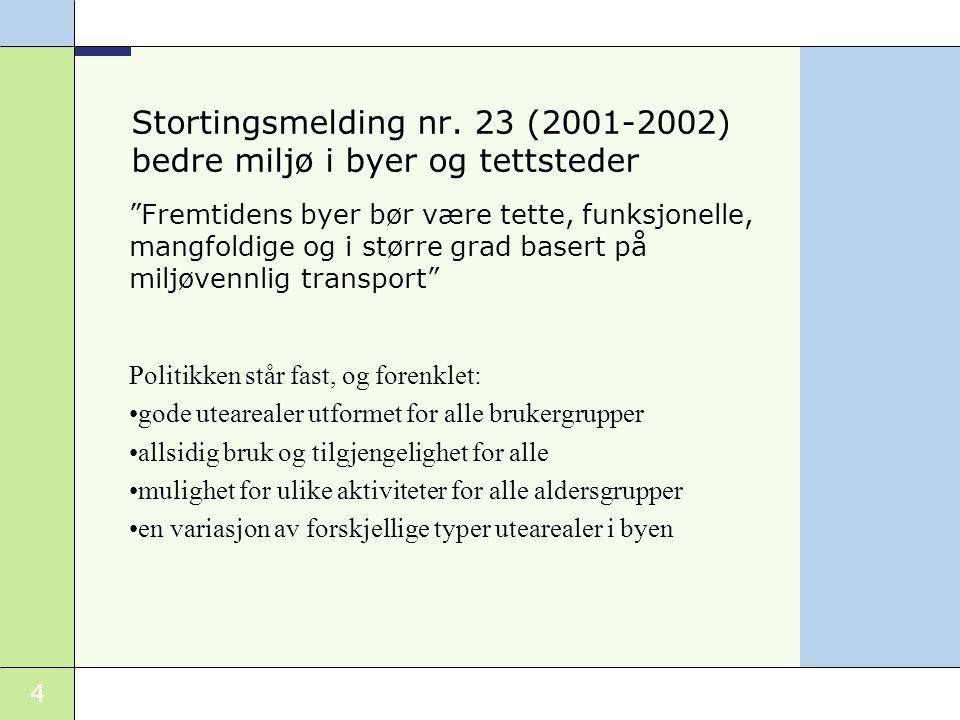 Stortingsmelding nr. 23 (2001-2002) bedre miljø i byer og tettsteder